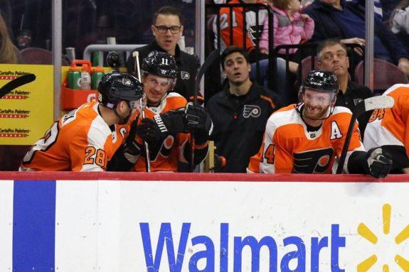 Claude Giroux Travis Konecny Sean Couturier Philadelphia Flyers