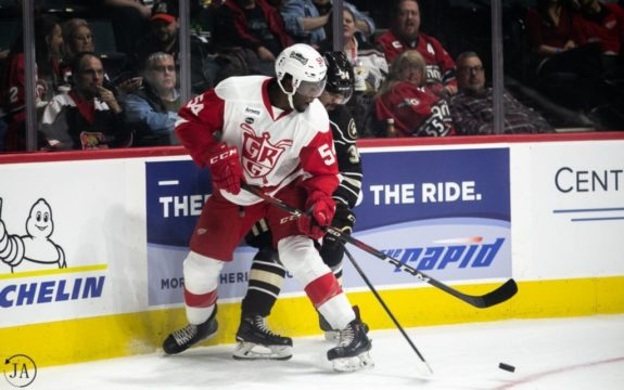 Givani Smith of the Detroit Red Wings.