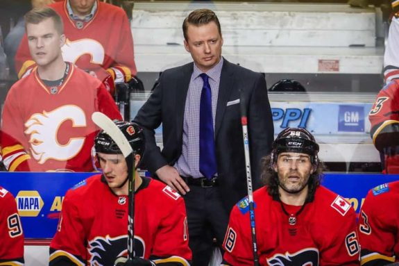 Calgary Flames head coach Glen Gulutzan