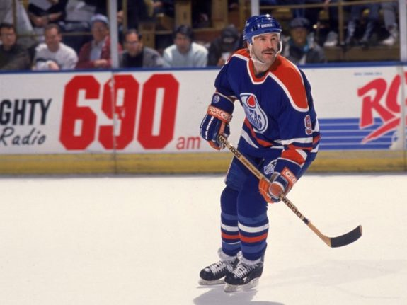 Glenn Anderson of the Edmonton Oilers