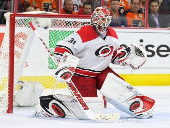 Eddie Lack of the Carolina Hurricanes