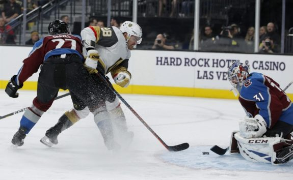 Vegas Golden Knights William Carrier Colorado Avalanche Philipp Grubauer