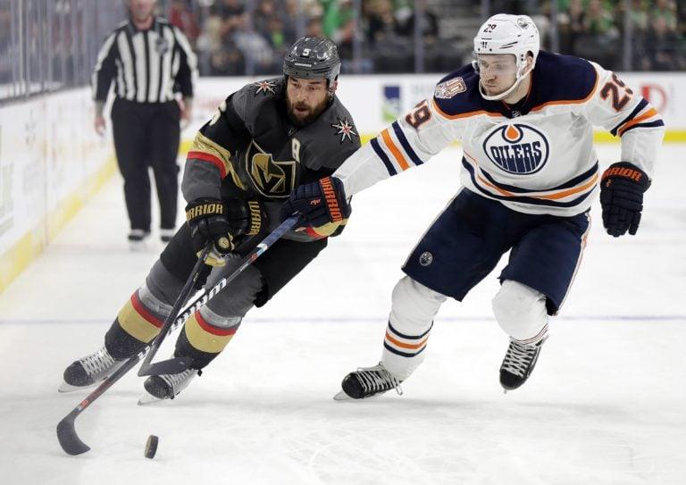 Vegas Golden Knights Deryk Engelland Edmonton Oilers Leon Draisaitl