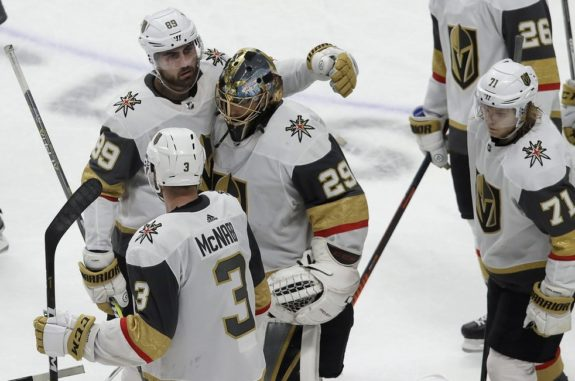 Marc-Andre Fleury, Alex Tuch, Brayden McNabb, William Karlsson