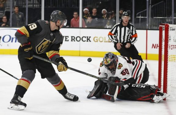 Chicago Blackhawks Corey Crawford Vegas Golden Knights Reilly Smith