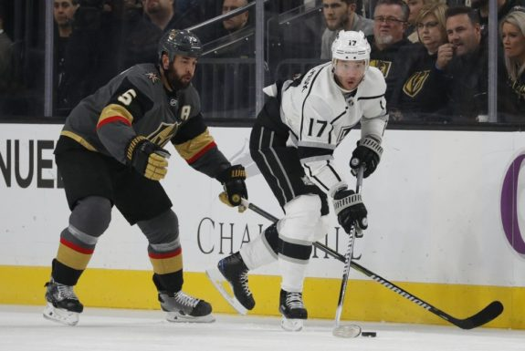 Los Angeles Kings Ilya Kovalchuk and Vegas Golden Knights Deryk Engelland
