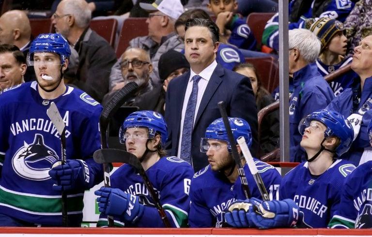 Vancouver Canucks head coach Travis Green