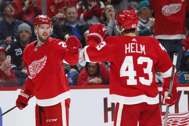 Detroit Red Wings Mike Green Darren Helm