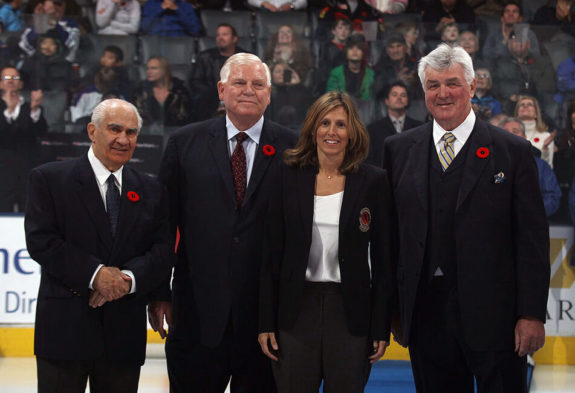 Jim Gregory Don Hay Cammi Granato Pat Quinn Hockey Hall of Fame