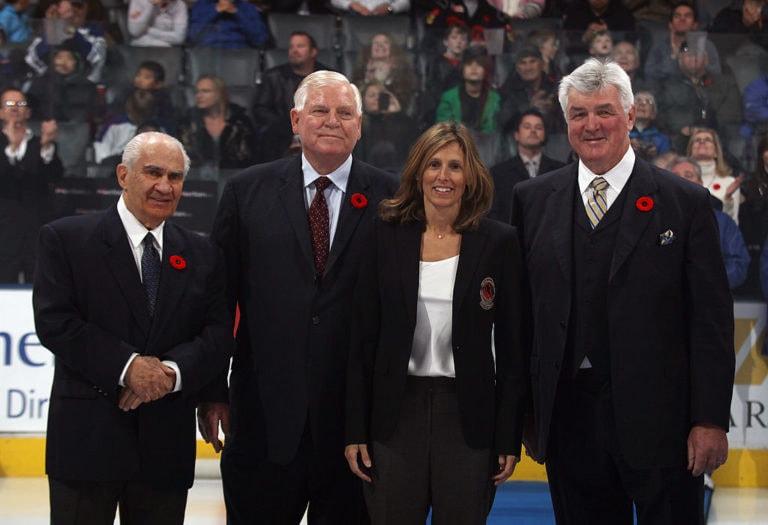 Jim Gregory Don Hay Cammi Granato Pat Quinn Hockey Hall of Fame