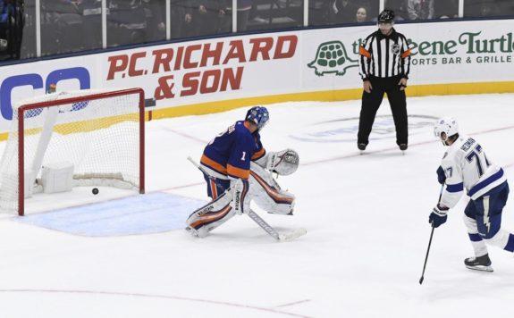 Tampa Bay Lightning's Victor Hedman New York Islanders Thomas Greiss