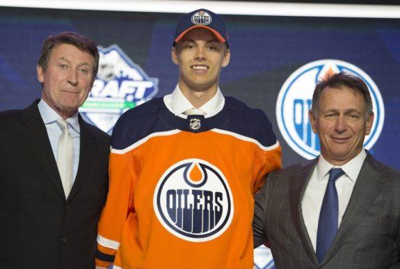 Edmonton Oilers Wayne Gretzky Philip Broberg Ken Holland
