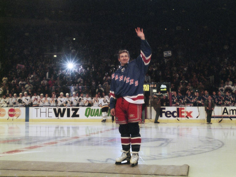 Wayne Gretzky New York Rangers retirement