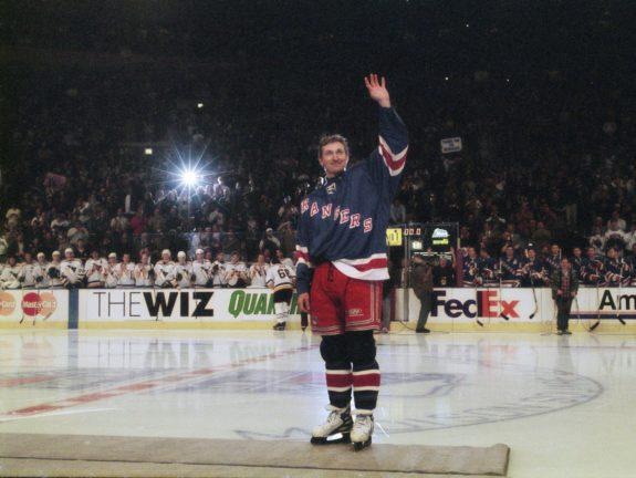 Wayne Gretzky New York Rangers retirement