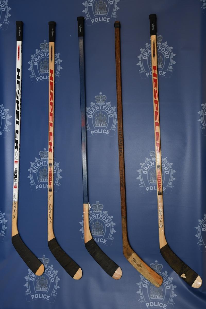 Wayne Gretzky memorabilia sticks