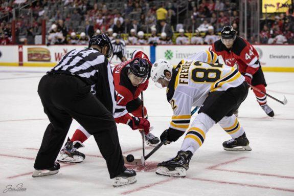 New Jersey Devils Nikita Gusev Boston Bruins Trent Frederic