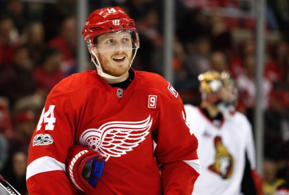 Gustav Nyquist of the Detroit Red Wings.