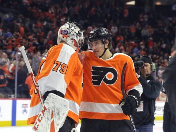 Carter Hart Nicolas Aube-Kubel Philadelphia Flyers