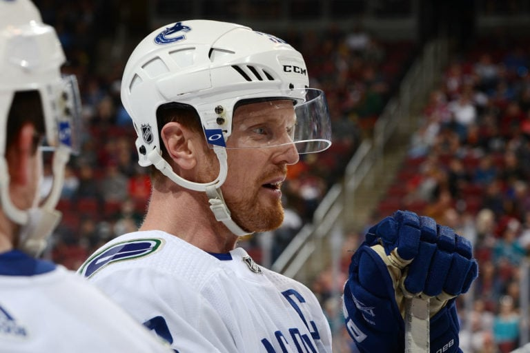 Henrik Sedin #33 of the Vancouver Canucks