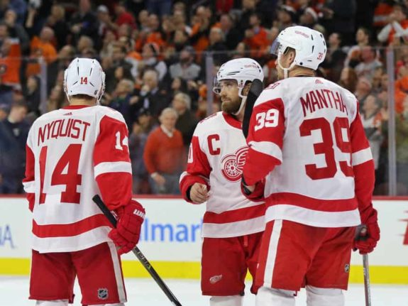 Henrik Zetterberg Gustav Nyquist Anthony Mantha Red Wings