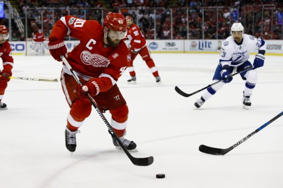Henrik Zetterberg of the Detroit Red Wings.
