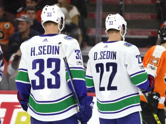 Vancouver Canucks forwards Henrik and Daniel Sedin