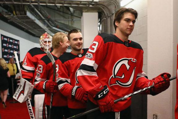Nico Hischier Jesper Bratt Will Butcher Devils