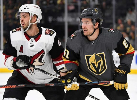 Arizona Coyotes Niklas Hjalmarsson Vegas Golden Knights Mark Stone