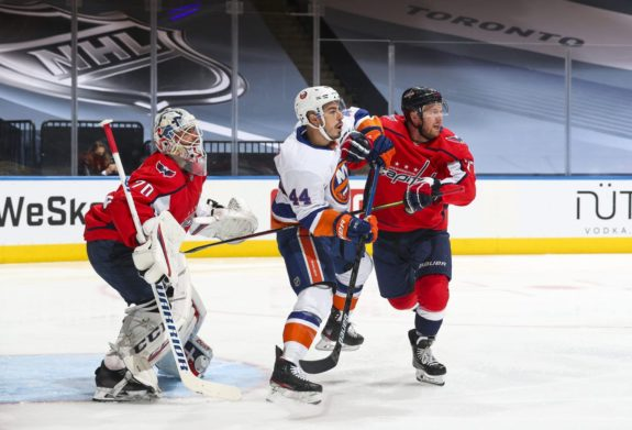 Jean-Gabriel Pageau New York Islanders Travis Boyd Braden Holtby Washington Capitals
