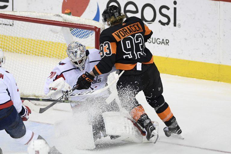Washington Capitals Braden Holtby Philadelphia Flyers Jakub Voracek