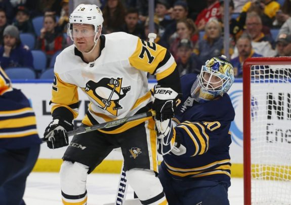 Buffalo Sabres Carter Hutton Pittsburgh Penguins Patric Hornqvist