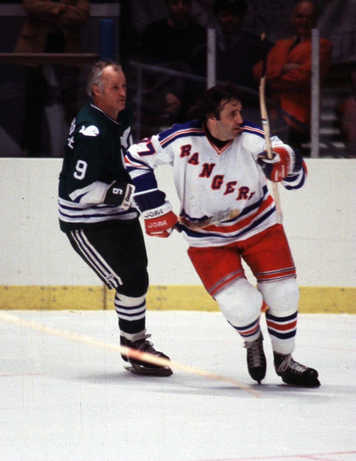 Gordie Howe Hartford Whalers Phil Esposito New York Rangers