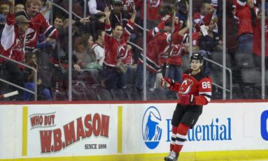 Hughes Powers Devils Past Rangers for Preseason Win