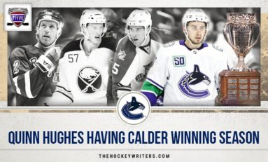 Canucks Quinn Hughes Having Calder Winning Season