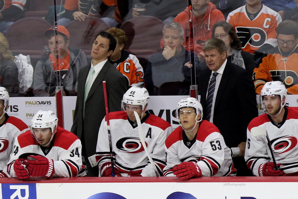 Hurricanes Bench (Amy Irvin / The Hockey Writers)