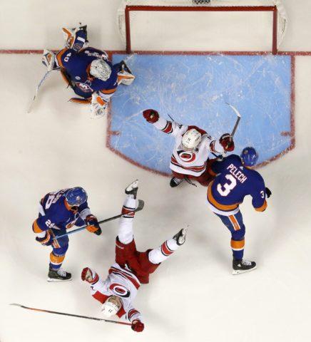 Carolina Hurricanes Nino Niederreiter Jordan Staal New York Islanders Robin Lehner Brock Nelson Adam Pelech
