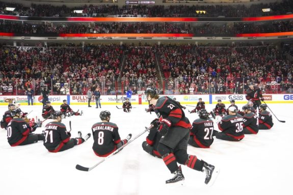 Carolina Hurricanes players celebrate