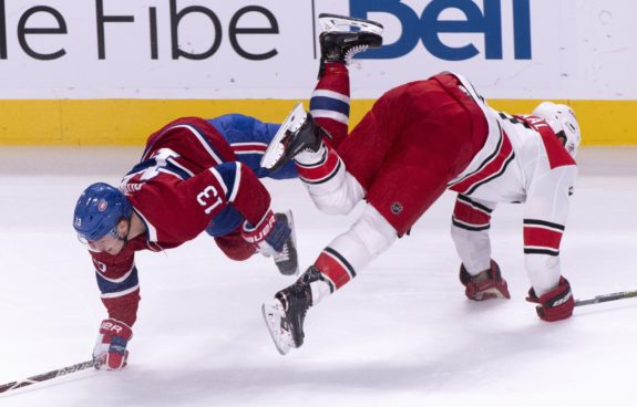 Canadiens Max Domi Hurricanes Jordan Staal