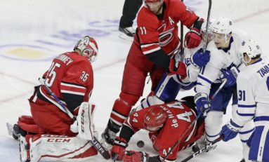 Hurricanes' McElhinney Playing His Way to Number One