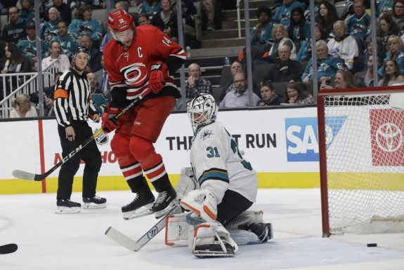 Carolina Hurricanes Justin Williams San Jose Sharks Martin Jones