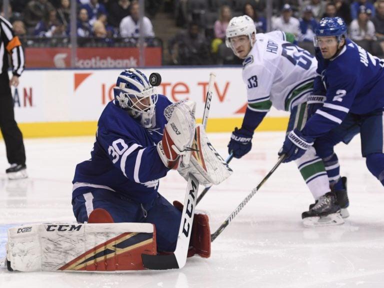 Toronto Maple Leafs goaltender Michael Hutchinson