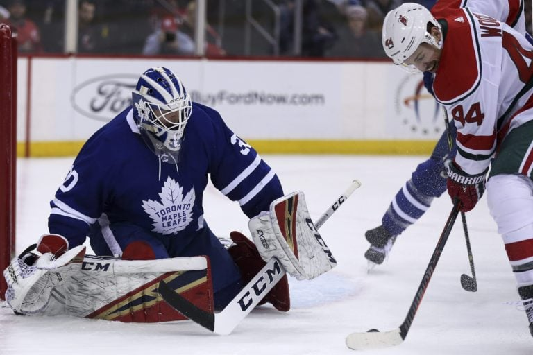 Toronto Maple Leafs Michael Hutchinson New Jersey Devils Miles Wood