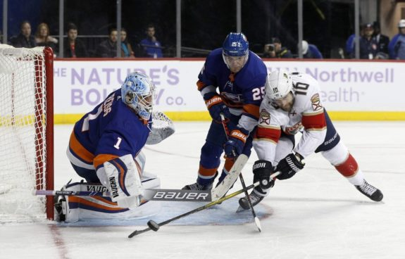 New York Islanders Thomas Greiss Devon Toews Florida Panthers Brett Connolly