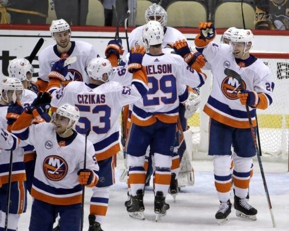 New York Islanders celebrate