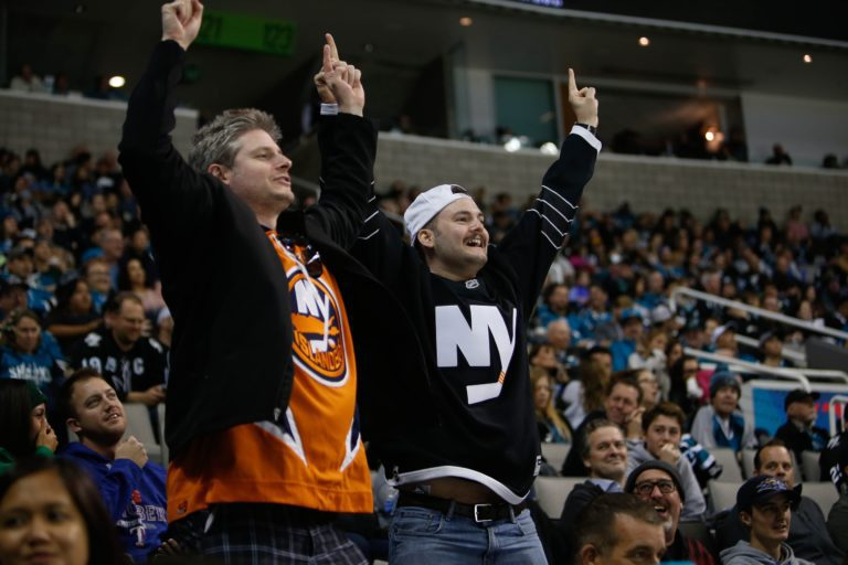 Fans of the New York Islanders