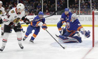 Islanders Beat Blackhawks - Devon Toews Nets 1st Goal