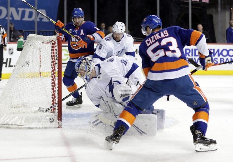 Tampa Bay Lightning Andrei Vasilevskiy New York Islanders Casey Cizikas