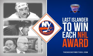 Last Islander to Win Each NHL Award