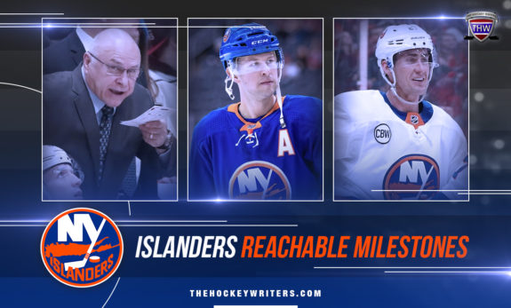 Barry Trotz, Josh Bailey and Brock Nelson New York Islanders Milestones That Are Reachable in 2020-21 Season
