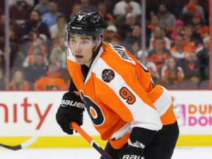 Ivan Provorov's offense game is beginning to unfold. (Amy Irvin / The Hockey Writers)